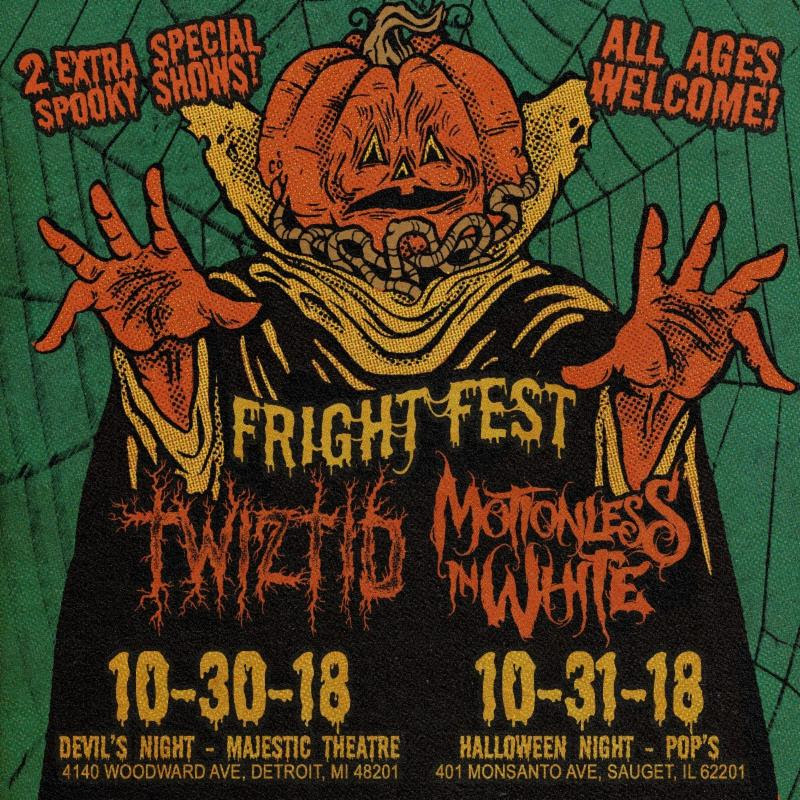 Twizted Motionless In White Halloween shows