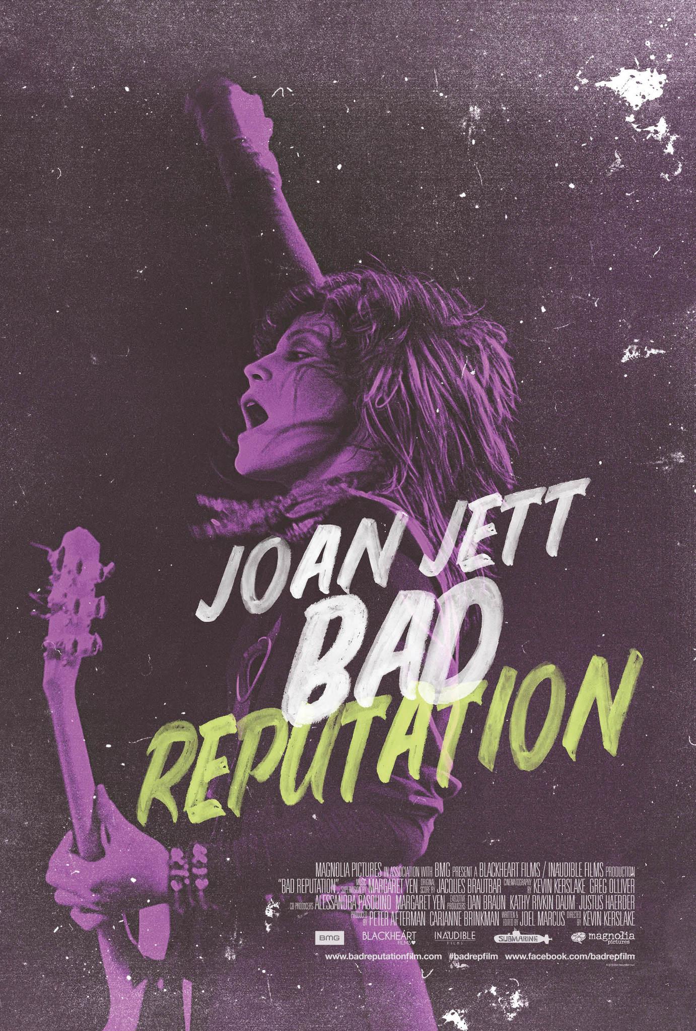 Joan Jett Bad Reputation poster