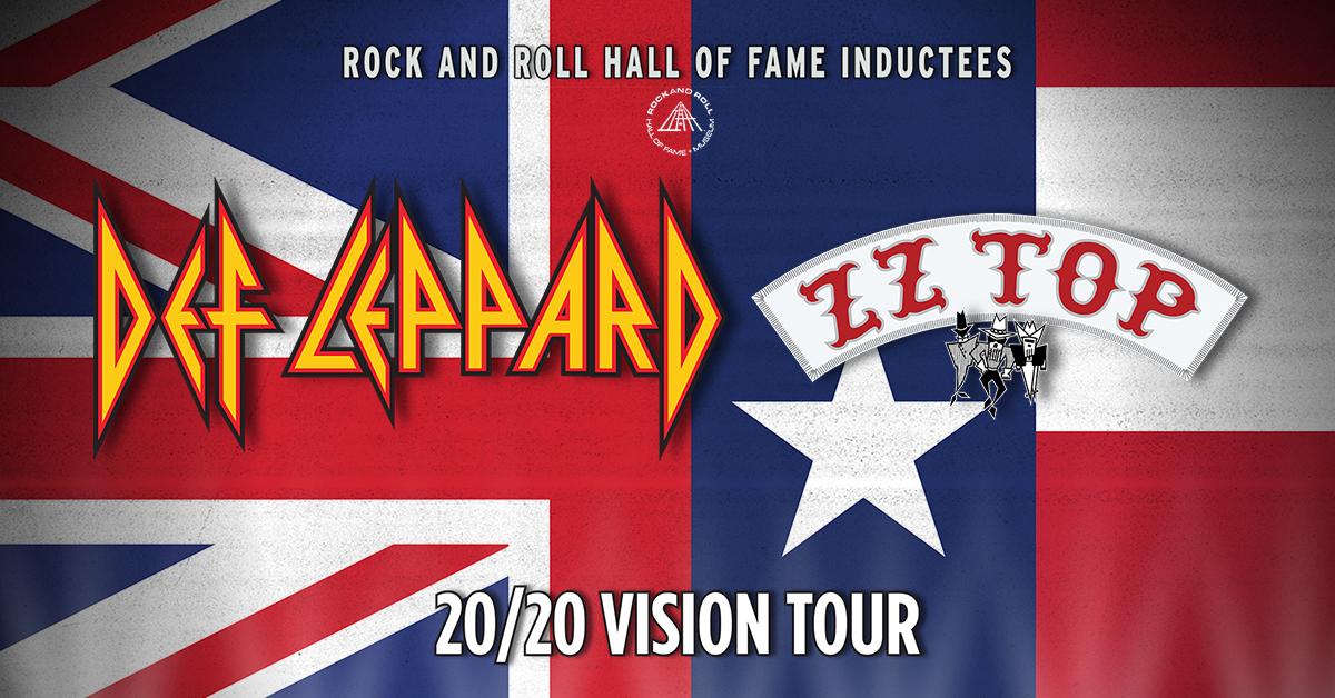 Def Leppard ZZ Top 2020 Vision tour