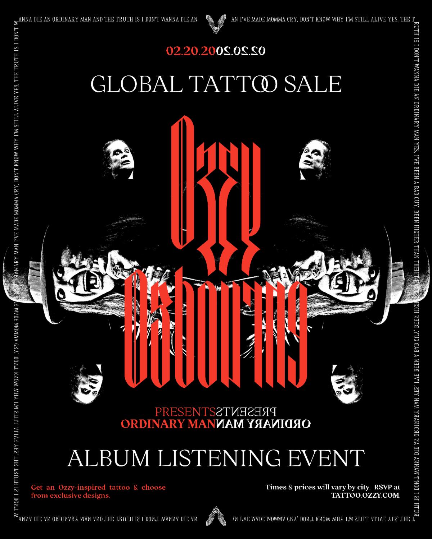 Ozzy tattoo sale